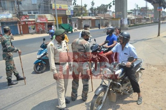Curfew in Tripura, lockdown strictly imposed