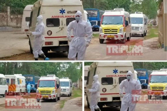 Tripura COVID-19 Cases in rapid rise concerns Health Dept, Social Distances violations may cause further worries for State Govt : COVID-19 cases soars up at 423