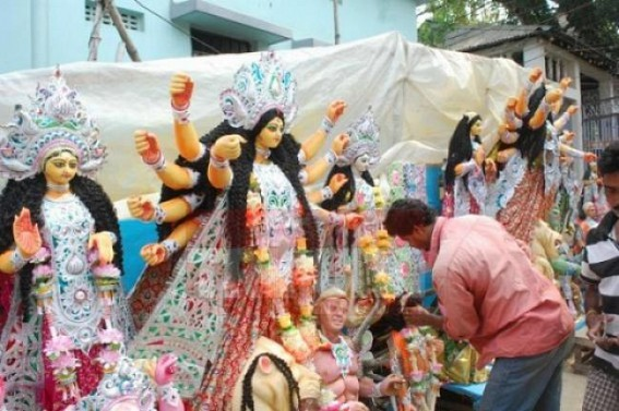 Additional guidelines for Durga Puja 2020 includes wearing masks, having sanitization set up in Pandals, Floor markings keeping distance of at least 2 meters mandatory
