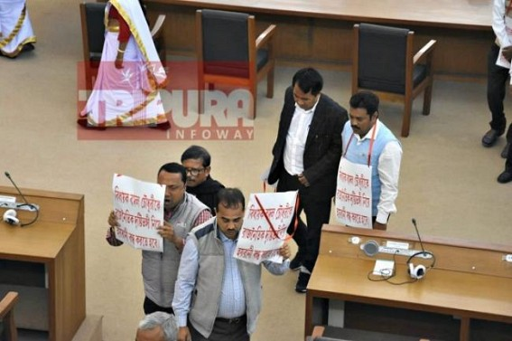 Opposition walked out of Tripura Assembly