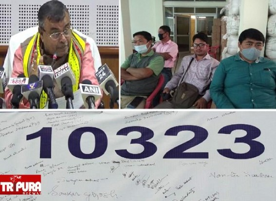 'Will You Clarify, What was the Terminated Teachers Number ??' Justice for 10323 Teachers Asked Education Minister, Expressed Resentment as Education Dept not giving Legal Questions Reply