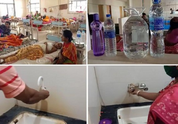 Tripura Govt Hospitals reel under various Problems : Severe Water Crisis in GB Hospital Trauma Centre : Patients, Staffs under massive Sufferings
