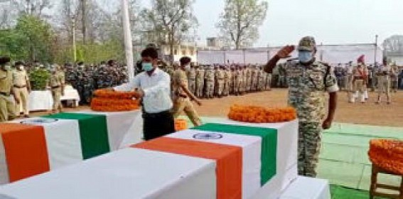 Hundreds bid farewell to 3 bravehearts of NE, martyred in Maoist attack