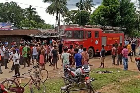 Fire broke out at Golaghati market : 3 shops completely burnt