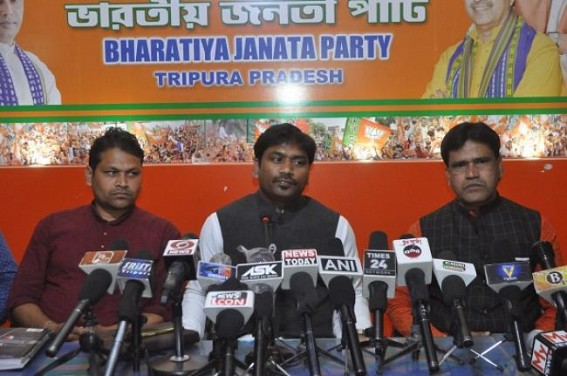 BJP SC Morcha leader Lal Singh arrives in Tripura. TIWN Pic Feb 23