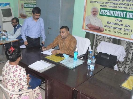 Job Fair held for Reliance Jio and Tista Companies Recruitments in Agartala