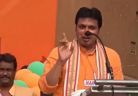 Netizens Trolled Biplab Deb, Said, 'Jhut Bole Kawa Kaate' after he said at West Bengal that Tripura Employees got 7th Pay Commission !