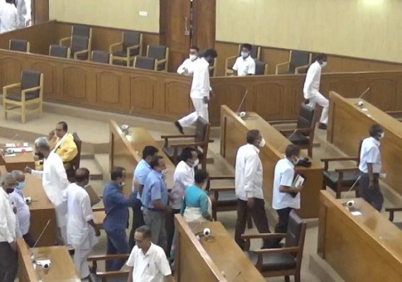 Chaos in Tripura Assembly as Opposition Stretched Sep 8 Agartala City Torching Incident : Walked out after Speaker Refused to Proceed Discussion over Law & Order Situation