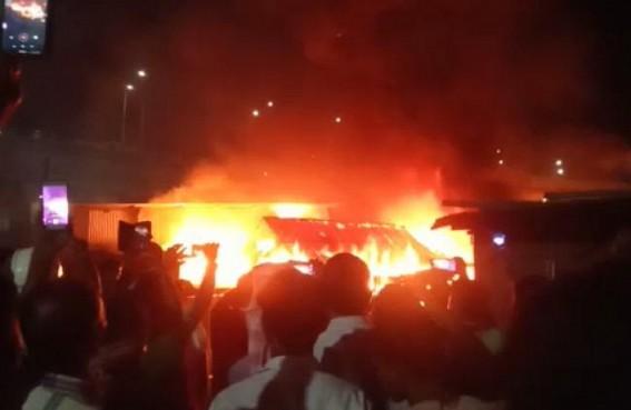 Over 10 Shops, 2 Houses were burnt in massive Fire Incident at Bhattapurkur, Agartala